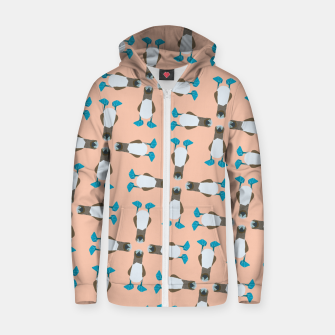 Thumbnail image of Blue boobie Zip up hoodie, Live Heroes