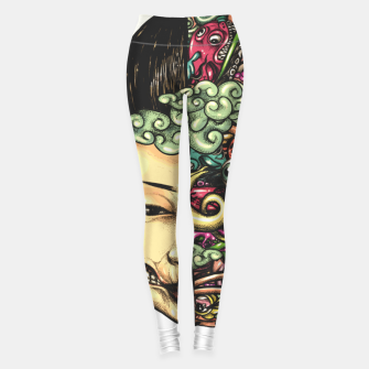 Thumbnail image of Split Head Gueisha Doodle Leggings, Live Heroes
