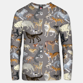 Miniatur Wolves of the wolf grey Sudadera unisex, Live Heroes