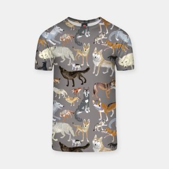 Miniatur Wolves of the wolf grey Camiseta, Live Heroes