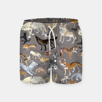 Thumbnail image of Wolves of the wolf grey Pantalones de baño, Live Heroes