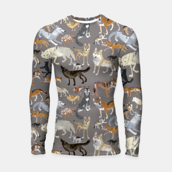 Thumbnail image of Wolves of the wolf grey Longsleeve rashguard, Live Heroes