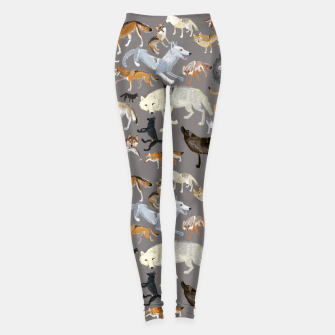 Thumbnail image of Wolves of the wolf grey Leggings, Live Heroes