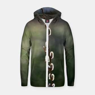 Thumbnail image of Pussy willow Zip up hoodie, Live Heroes