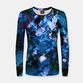 Thumbnail image of Smouldering blue Women sweater, Live Heroes