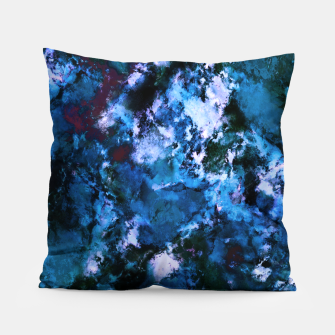Smouldering blue Pillow thumbnail image