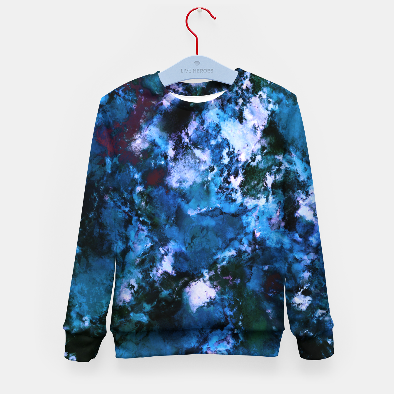 Image of Smouldering blue Kid's sweater - Live Heroes