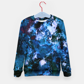 Thumbnail image of Smouldering blue Kid's sweater, Live Heroes