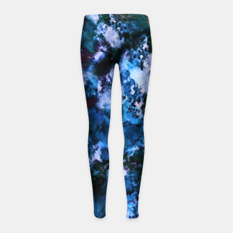 Thumbnail image of Smouldering blue Girl's leggings, Live Heroes
