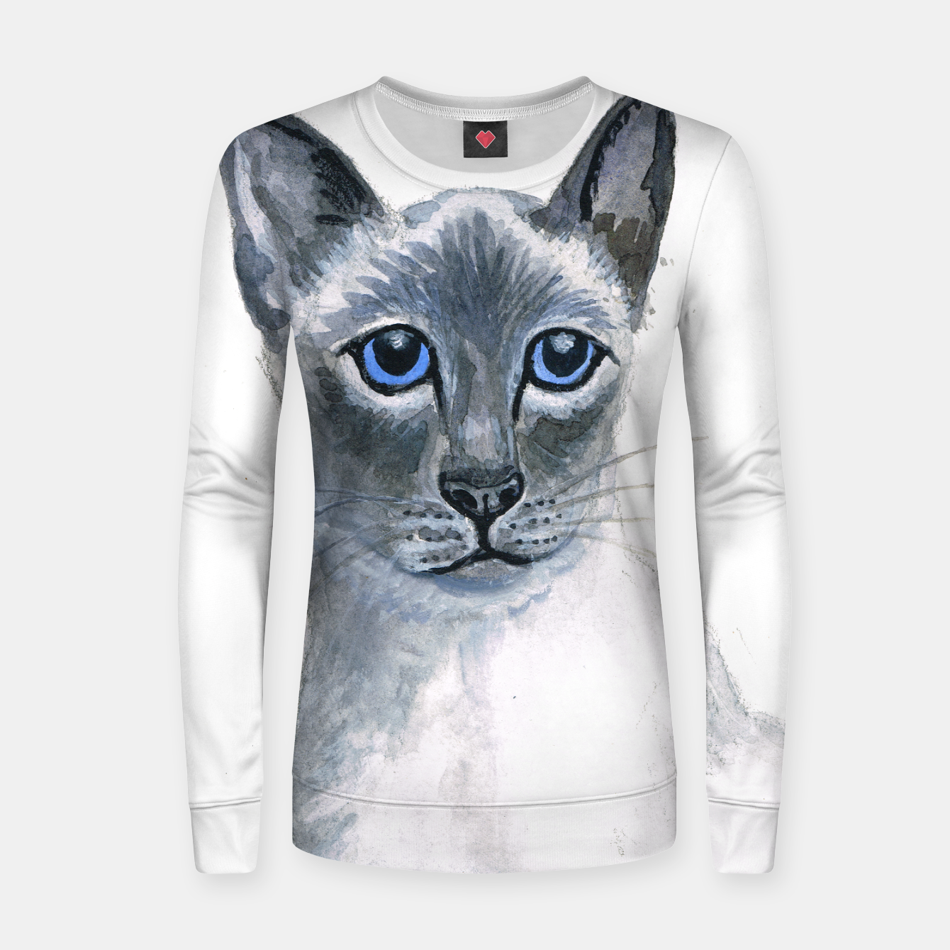 Image of Blue Point Siamese Cat womens sweater - Live Heroes