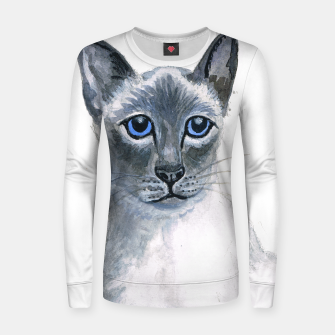 Miniatur Blue Point Siamese Cat womens sweater, Live Heroes