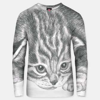 Thumbnail image of tiny tabby kitten unisex sweater, Live Heroes