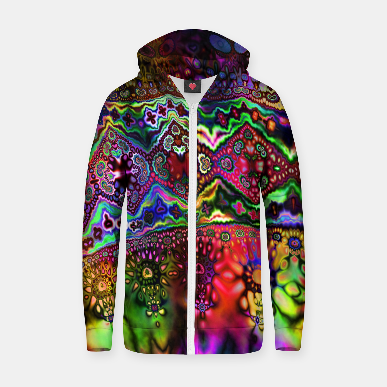 Foto Rainbow Tapestry Zip up hoodie - Live Heroes