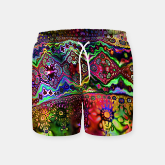 Thumbnail image of Rainbow Tapestry Swim Shorts, Live Heroes