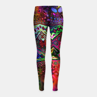 Rainbow Tapestry Girl's leggings Bild der Miniatur
