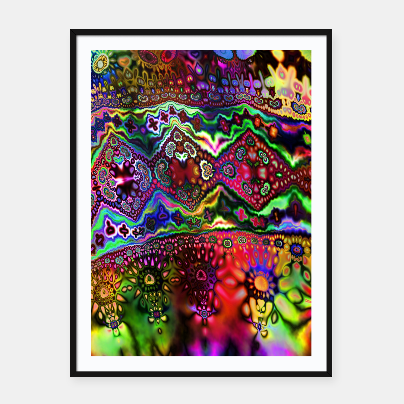 Image of Rainbow Tapestry Framed poster - Live Heroes