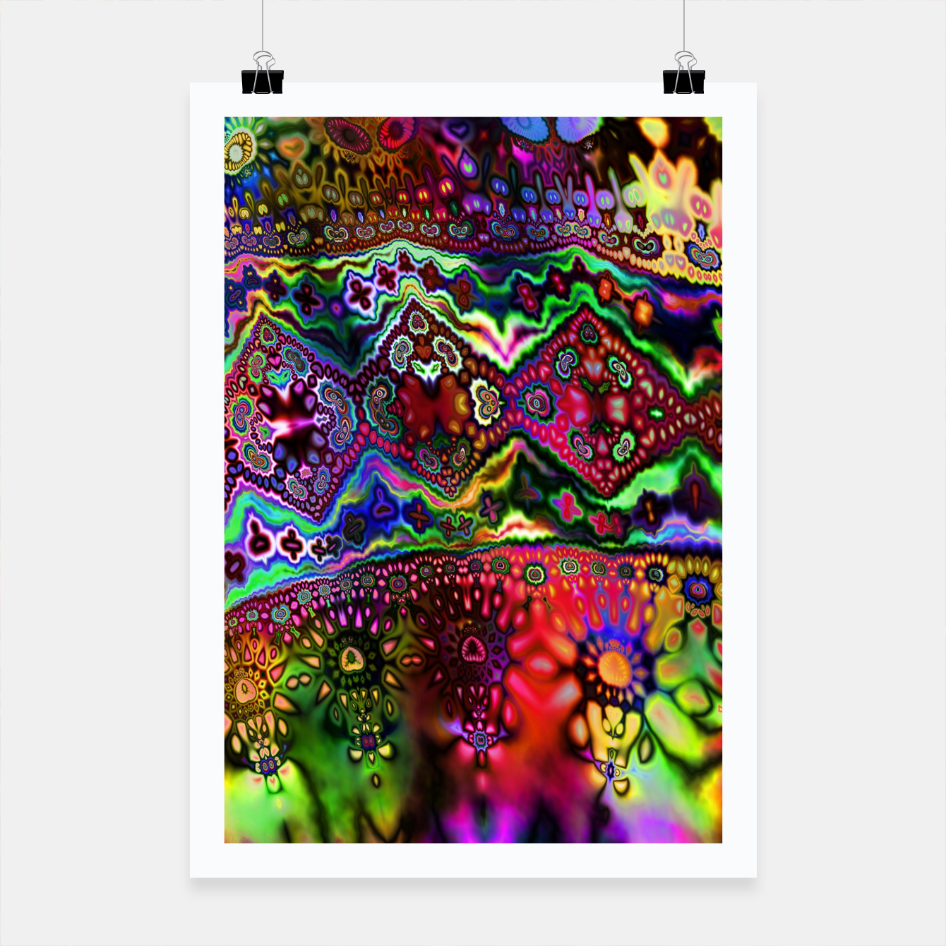 Image of Rainbow Tapestry Poster - Live Heroes