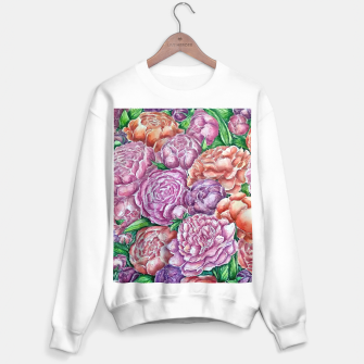 Thumbnail image of Peonies wave - watercolor Sweater regular, Live Heroes