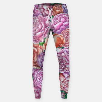 Thumbnail image of Peonies wave - watercolor Sweatpants, Live Heroes