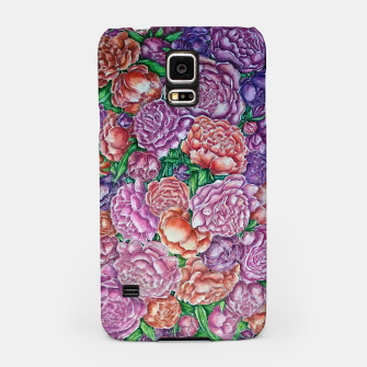 Peonies wave - watercolor Samsung Case thumbnail image