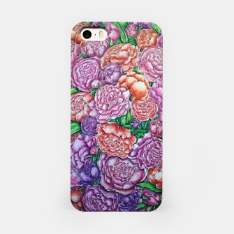Peonies wave - watercolor iPhone Case thumbnail image