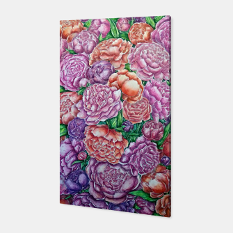 Thumbnail image of Peonies wave - watercolor Canvas, Live Heroes