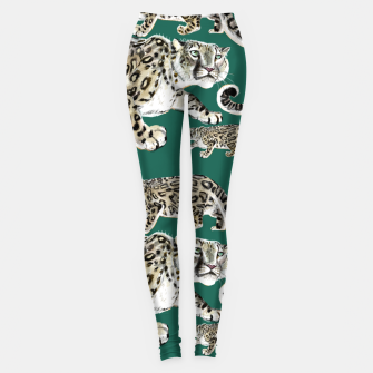 Thumbnail image of Snow leopard green Leggings, Live Heroes