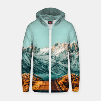 Thumbnail image of The Road Less Traveled Zip up hoodie, Live Heroes