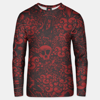 Red Doodle Unisex sweater thumbnail image