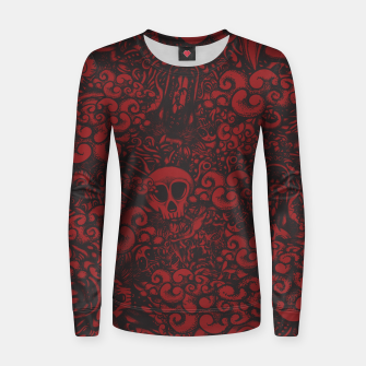 Miniatur Red Doodle Women sweater, Live Heroes