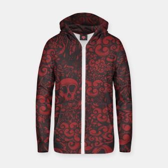 Red Doodle Zip up hoodie thumbnail image