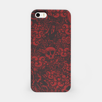 Miniatur Red Doodle iPhone Case, Live Heroes