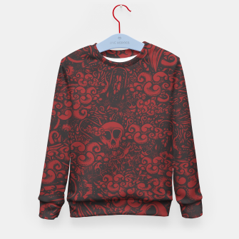 Miniatur Red Doodle Kid's sweater, Live Heroes
