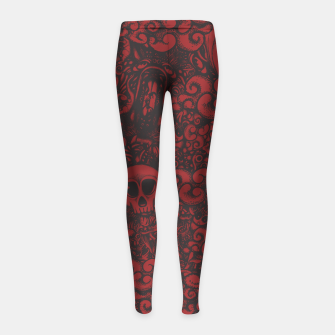 Miniatur Red Doodle Girl's leggings, Live Heroes