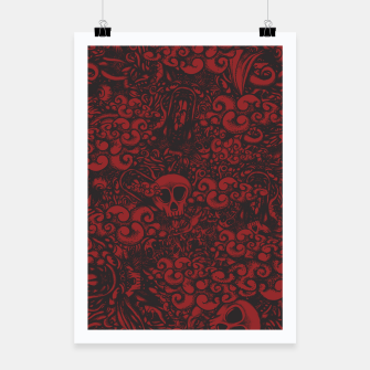 Miniatur Red Doodle Poster, Live Heroes