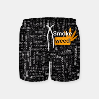 Smoke weed Swim Shorts thumbnail image