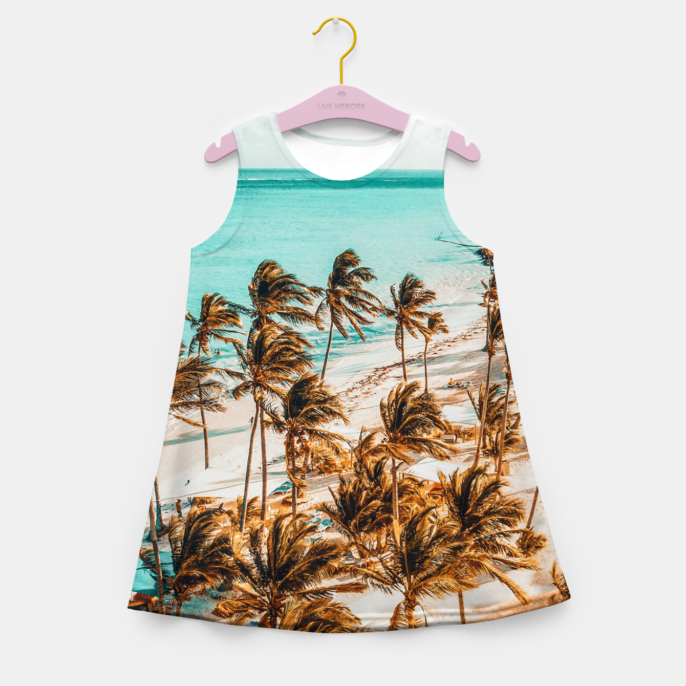 Image of Beach Life Girl's summer dress - Live Heroes