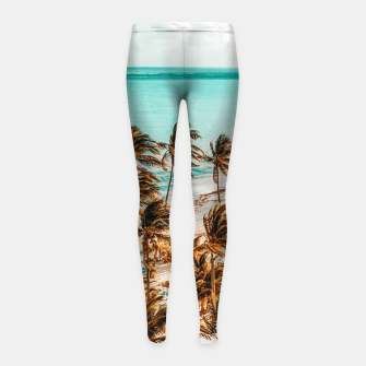 Miniatur Beach Life Girl's leggings, Live Heroes