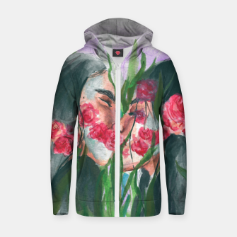 Thumbnail image of Mother nature Zip up hoodie, Live Heroes