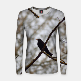 Thumbnail image of Black bird Women sweater, Live Heroes