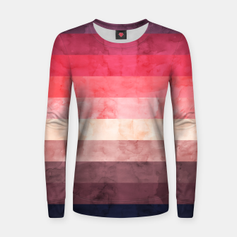 Imagen en miniatura de Watercolor landscape Women sweater, Live Heroes