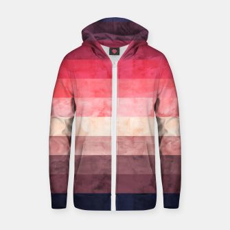 Thumbnail image of Watercolor landscape Zip up hoodie, Live Heroes