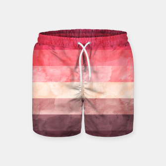 Thumbnail image of Watercolor landscape Swim Shorts, Live Heroes