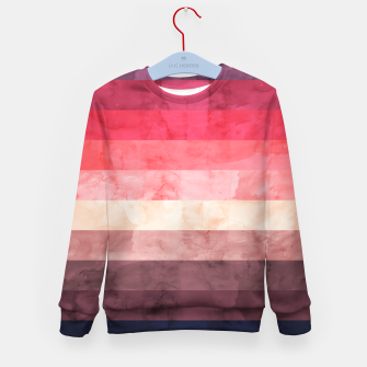 Imagen en miniatura de Watercolor landscape Kid's sweater, Live Heroes