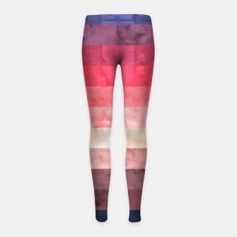 Thumbnail image of Watercolor landscape Girl's leggings, Live Heroes