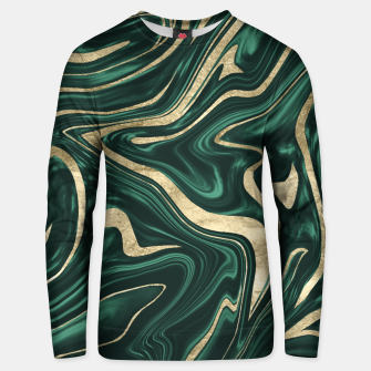 Emerald Green Black Gold Marble #1 #decor #art Unisex sweatshirt obraz miniatury