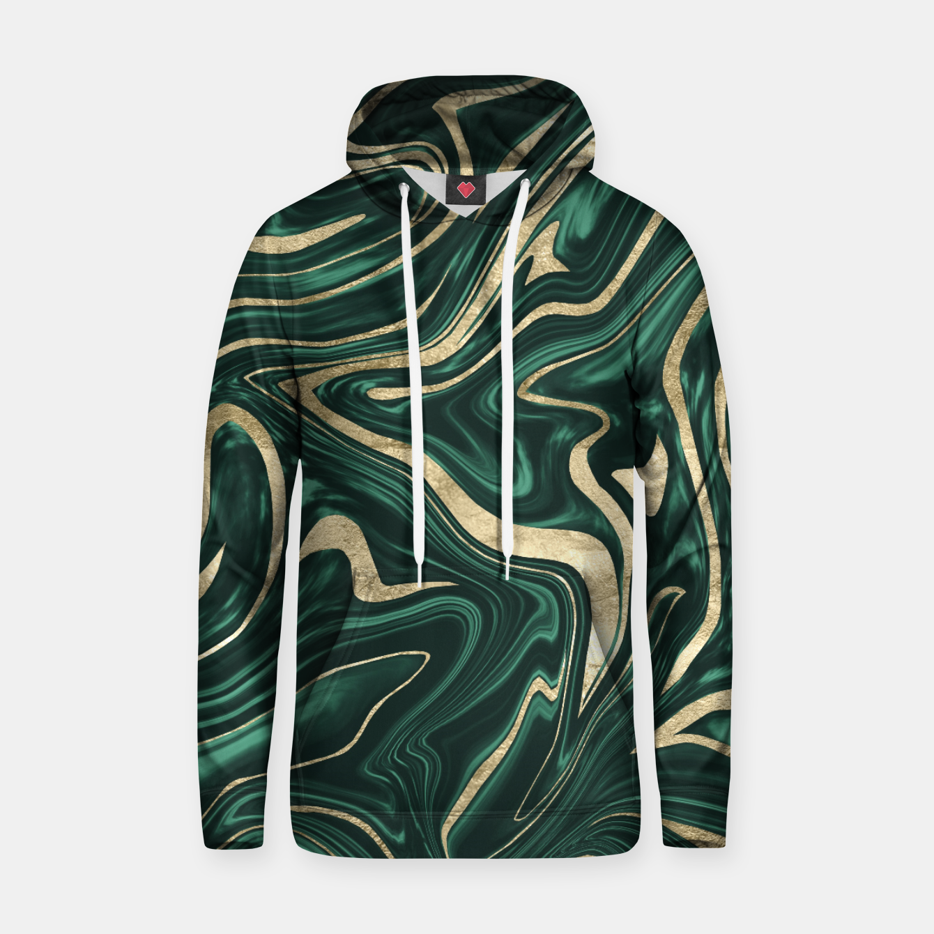Zdjęcie Emerald Green Black Gold Marble #1 #decor #art Kapuzenpullover - Live Heroes