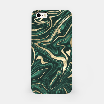 Emerald Green Black Gold Marble #1 #decor #art iPhone-Hülle obraz miniatury