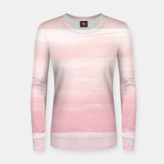 Blush Watercolor Abstract Minimalism #1 #minimal #painting #decor #art  Frauen sweatshirt obraz miniatury