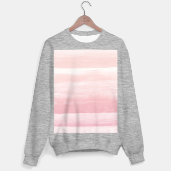 Blush Watercolor Abstract Minimalism #1 #minimal #painting #decor #art  Sweatshirt regulär obraz miniatury